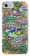 Protecting Mr. Bluefin  IPhone Case by Betsy Knapp