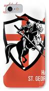 Proud To Be English Happy St George Day Retro Poster IPhone Case