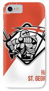 Proud To Be English Happy St George Greeting Card IPhone Case by Aloysius Patrimonio