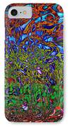 Psychedelic Mind IPhone Case by Linda Sannuti