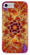 Psychedelic Spiral Vortex Red Orange And Blue Fractal Flame IPhone Case by Keith Webber Jr