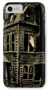 Psycho Mansion IPhone Case by John Malone