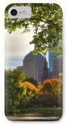 Public Garden Skyline IPhone Case by Joann Vitali
