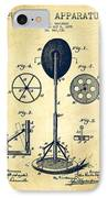 Punching Apparatus Patent Drawing From 1895 -vintage IPhone Case