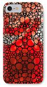Pure Passion 2 - Stone Rock'd Red And Black Art Painting IPhone Case by Sharon Cummings