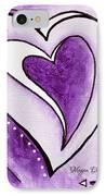 Purple Heart Love Painting Pop Art Blessed By Megan Duncanson IPhone Case by Megan Duncanson