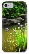 Purple Irises In Pond IPhone Case by Elena Elisseeva