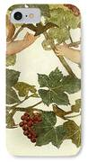 Putti Frolicking In A Vineyard IPhone Case