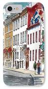Quebec Old City Canada IPhone Case by Anthony Butera