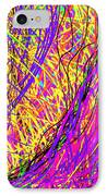 Rainbow Divine Fire Light IPhone Case by Daina White