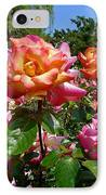 Rainbow Sorbet Roses IPhone Case by Denise Mazzocco