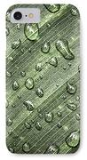 Raindrops On Green Leaf IPhone Case