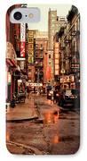 Rainy Street - New York City IPhone Case by Vivienne Gucwa