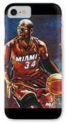 Ray Allen IPhone Case by Maria Arango