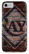 Rays Baseball Graffiti On Brick  IPhone Case by Movie Poster Prints