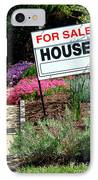 Real Estate For Sale Sign And Garden IPhone Case