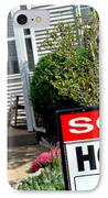 Real Estate Sold House Sign And Home For Sale IPhone Case by Olivier Le Queinec