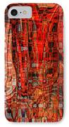 Red Abstract Panel IPhone Case by Carol Groenen