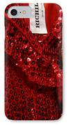Red And Gold Holiday IPhone Case by Toni Hopper
