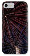 Red Blue Fireworks IPhone Case
