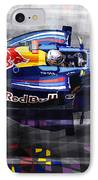 Red Bull Rb6 Vettel 2010 IPhone Case by Yuriy  Shevchuk