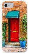 Red Door 2 IPhone Case by Baywest Imaging