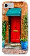 Red Door IPhone Case by Baywest Imaging