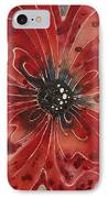 Red Flower 1 - Vibrant Red Floral Art IPhone Case by Sharon Cummings