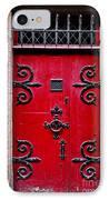 Red Medieval Door IPhone Case by Elena Elisseeva