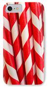 Red Paper Straws IPhone Case