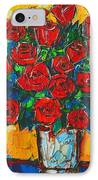 Red Passion Roses IPhone Case by Ana Maria Edulescu