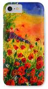 Red Poppies 45 IPhone Case by Pol Ledent