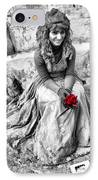Red Red Rose In Black And White IPhone Case