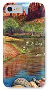 Red Rock Crossing-sedona IPhone Case by Marilyn Smith