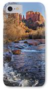 Red Rock Crossing Winter IPhone Case