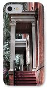 Red Stairs IPhone Case by John Rizzuto