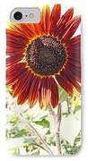 Red Sunflower Glow IPhone Case