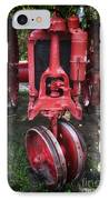 Red Tractor IPhone Case by John Rizzuto