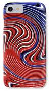 Red White And Blue IPhone Case by Sarah Loft