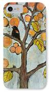 Red Winged Black Birds In A Tree IPhone Case