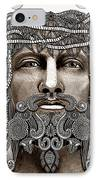 Redeemer - Modern Jesus Iconography - Copyrighted IPhone Case by Christopher Beikmann
