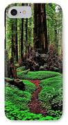 Redwoods Wonderland IPhone Case by Benjamin Yeager