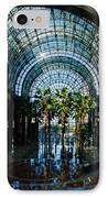 Reflecting On Palm Trees And Arches IPhone Case by Georgia Mizuleva
