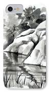 Reflections At Elephant Rocks State Park No I102 IPhone Case by Kip DeVore