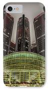 Renaissance Center Detroit Michigan IPhone Case by Nicholas  Grunas