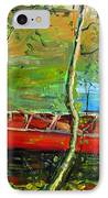 Renoirs Canoe IPhone Case by Charlie Spear