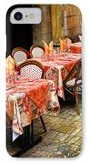 Restaurant Patio In France IPhone Case