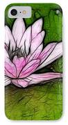 Retro Water Lilly IPhone Case by Bob Christopher