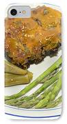 Ribs Plate With Vegetables IPhone Case by Susan Leggett