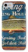 Rising Trout Sign IPhone Case by JQ Licensing